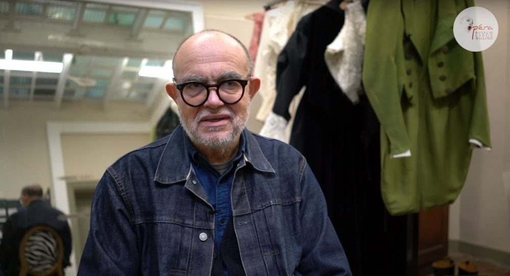 The fashion designer Christian Lacroix, at the creation of the costumes of Count Ory!